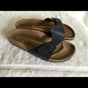 Birkenstock Madrid women's navy blue sandals sz 36